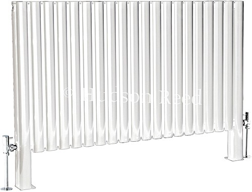 Revive Floor Mounted Radiator (White). 1180x600. additional image