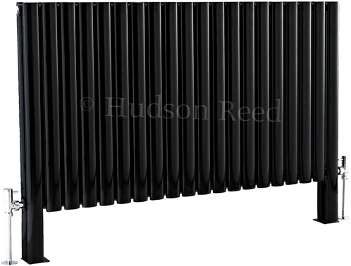 Revive Floor Mounted Radiator (Black). 1180x600. additional image