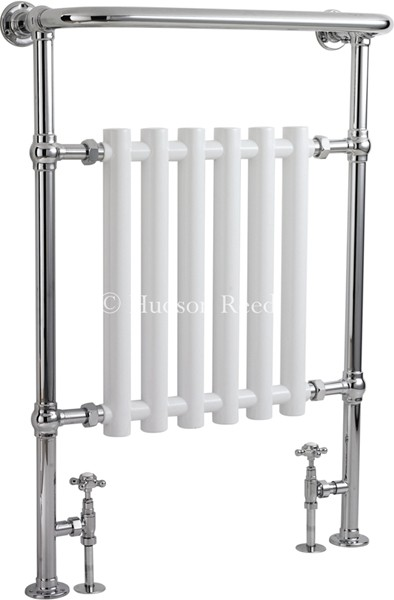 Regent Heated Towel Rail (Chrome & White). 675x960. additional image