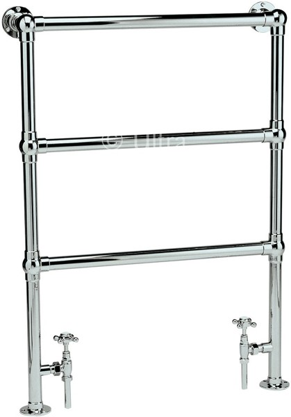 Cambridge Heated Towel Rail (Chrome). 676x966mm. additional image