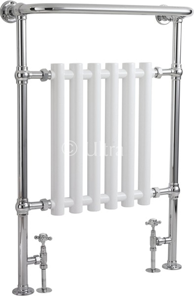 Ealing Heated Towel Rail (Chrome & White). 673x963mm. additional image