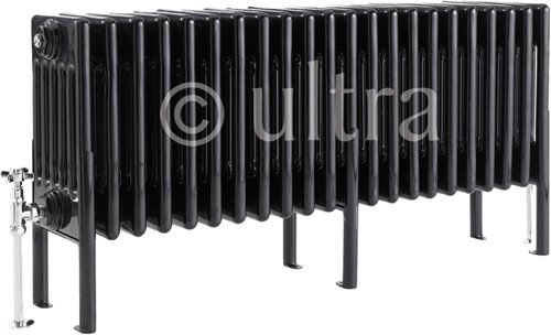 6 Column Radiator With Legs (Black). 1011x480x220mm. additional image