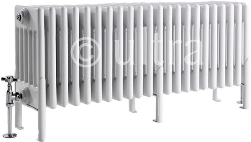 6 Column Radiator With Legs (White). 1011x480x220mm. additional image