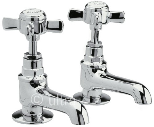 Long Nose Bath taps (Pair, Chrome) additional image