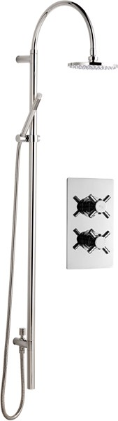 Twin Thermostatic Shower Valve & Grand Rigid Riser Kit. additional image