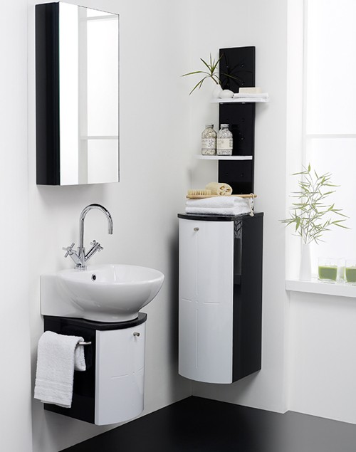 wall hung bathroom furniture pack black white hudson reed orb u