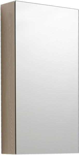 Mirror Bathroom Cabinet (Oak).  380x730x130mm. additional image