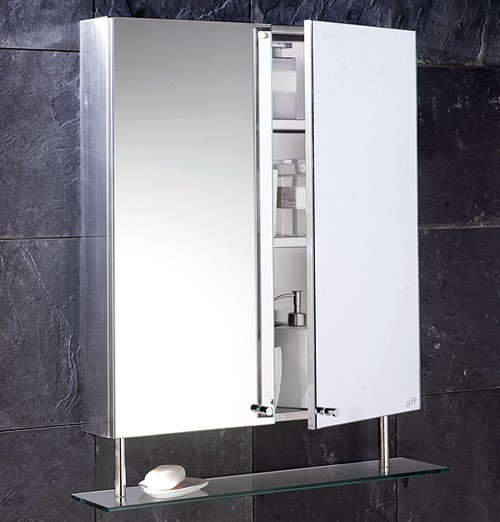 Dakota Stainless Steel Mirror Bathroom Cabinet 600mm Additional Image