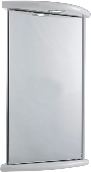 Niche Corner Mirror Cabinet Light Shaver 430x660x280mm Ultra Cabinets U Lq374 Truerooms Com