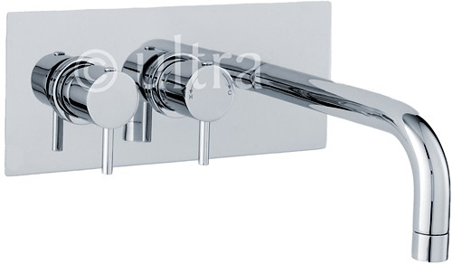 Wall Mounted Thermostatic Bath Filler Tap (Chrome). additional image