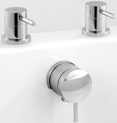 Freeflow Bath Filler With Pop Up Waste (Chrome). additional image