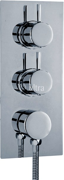 "3/4"" Twin Thermostatic Shower Valve With Diverter & Outlet. additional image"