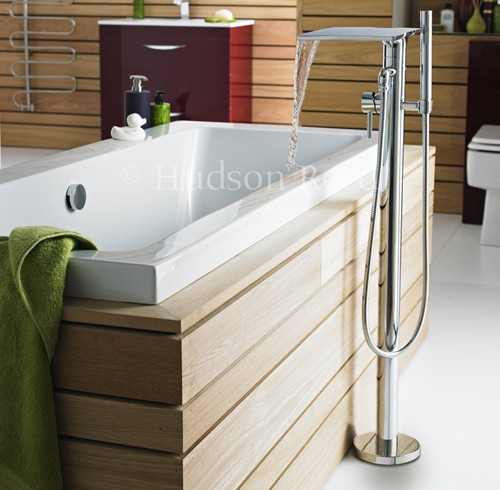 Waterfall freestanding Bath Shower Mixer Tap. additional image