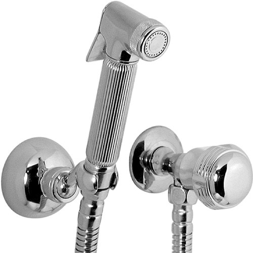 Luxury Hand Held Bidet Spray Kit With Stop Cock (Chrome). additional image