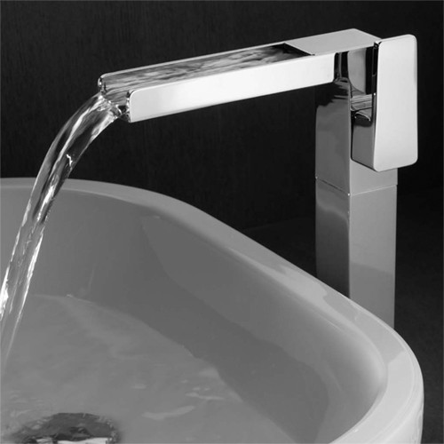 High Rise Waterfall Basin Tap (Chrome). additional image
