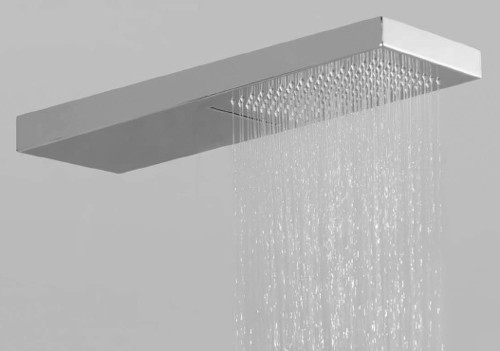 Shower Head With Rain Shower & Waterfall Outlets (Chrome). additional image