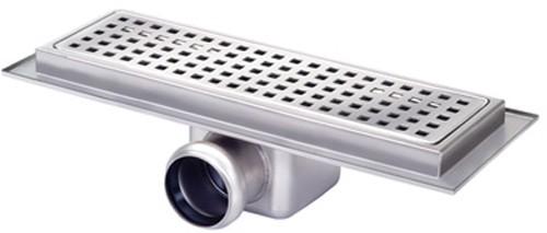 Rectangular Wetroom Shower Channel Side Outlet 300x100mm