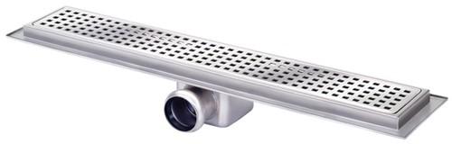 Rectangular Wetroom Shower Channel Side Outlet 600x100mm