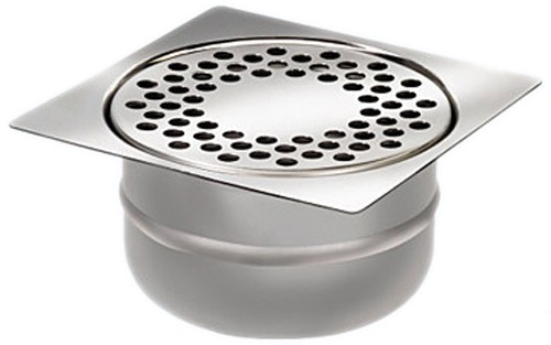 Stainless Steel Wetroom Drain Trap With Bottom Outlet
