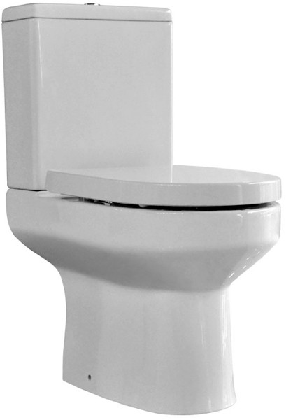 Modern Toilet With Push Flush Cistern & Seat. additional image
