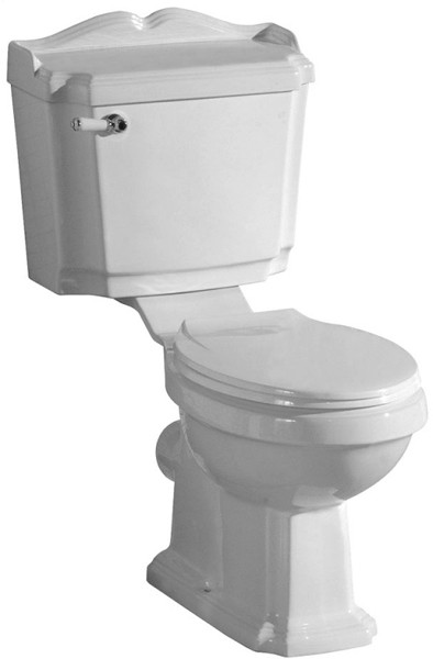 Classical Toilet With Lever Flush Cistern & Seat. additional image