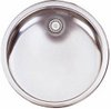 Click for Astracast Sink Onyx inset round kitchen drainer in polished steel finish.