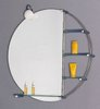 Click for Hudson Reed Bantry illuminated bathroom mirror with shelves.  800x800mm.