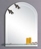 Click for Lucy Maynooth illuminated bathroom mirror with shelf.  Size 600x800mm.