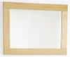 Click for daVinci Maple bathroom mirror. Size 800x600mm.