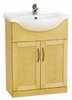 Click for daVinci 650mm Maple Vanity Unit with one piece ceramic basin.