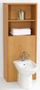 Click for daVinci Monte Carlo complete back to wall bidet set with shelves in beech.