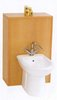 Click for daVinci Monte Carlo complete back to wall bidet set in beech.