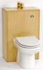 Click for daVinci Monte Carlo back to wall toilet unit in maple (Pan not included).