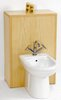 Click for daVinci Monte Carlo complete back to wall bidet set in maple.