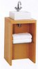 Click for daVinci Parisi beech cloakroom stand and square basin, with shelf.