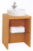 Click for daVinci Parisi midi beech stand and freestanding basin, with shelf.