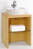 Click for daVinci Parisi midi maple stand and freestanding basin, with shelf.