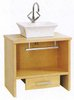 Click for daVinci Troy large maple stand and freestanding basin, drawer & towel rail.