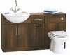 Click for daVinci Deluxe wenge bathroom furniture suite.  1400x810x300mm.