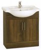 Click for daVinci 750mm Wenge Vanity Unit with one piece ceramic basin.