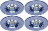 Click for Lights 4 x Low voltage chrome halogen downlighter with lamps & transformers.