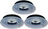 Click for Lights 3 x Low voltage black & glass downlight with lamps & transformers.