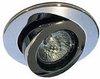 Click for Lights Low voltage chrome scoop directional downlight, trans. & lamp.